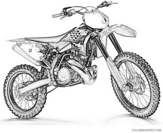 dirt bike coloring pages ktm Coloring4free