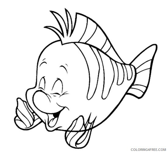disney characters coloring pages flounder Coloring4free