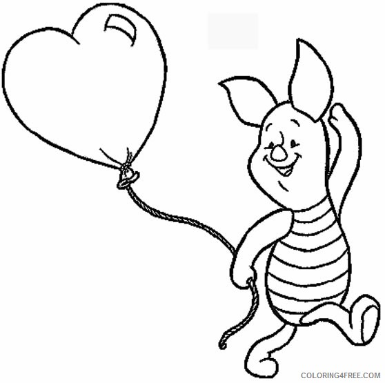 disney characters coloring pages piglet Coloring4free