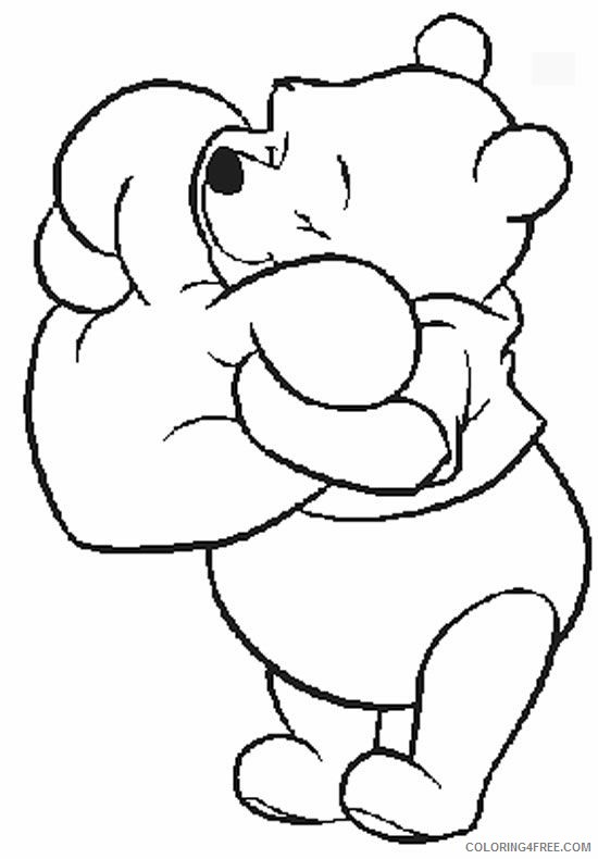 disney characters coloring pages winnie the pooh Coloring4free