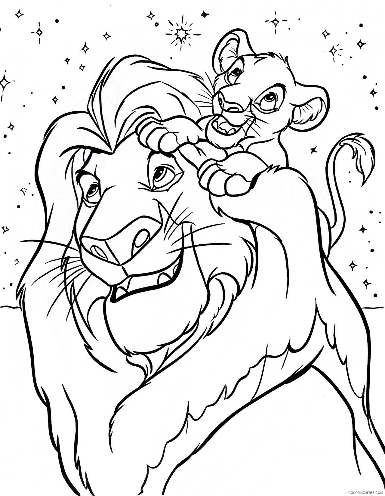 disney coloring pages the lion king Coloring4free