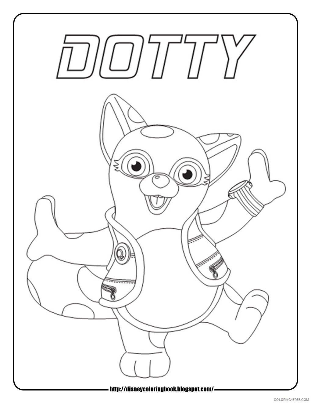 disney junior coloring pages dotty Coloring4free