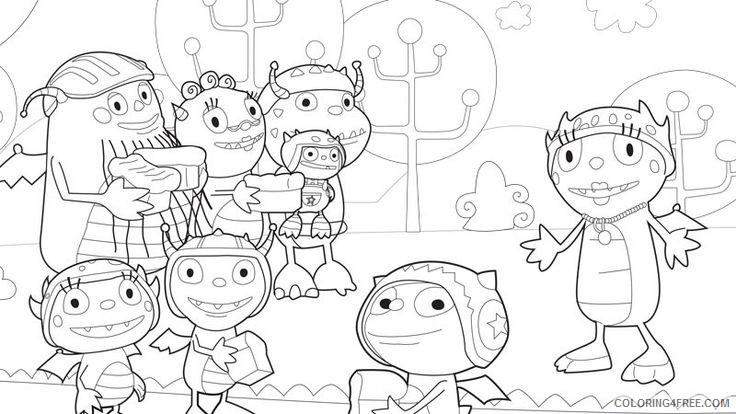 disney junior coloring pages henry hugglemonster Coloring4free
