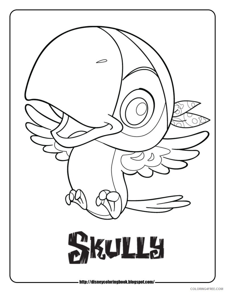 disney junior coloring pages skully Coloring4free