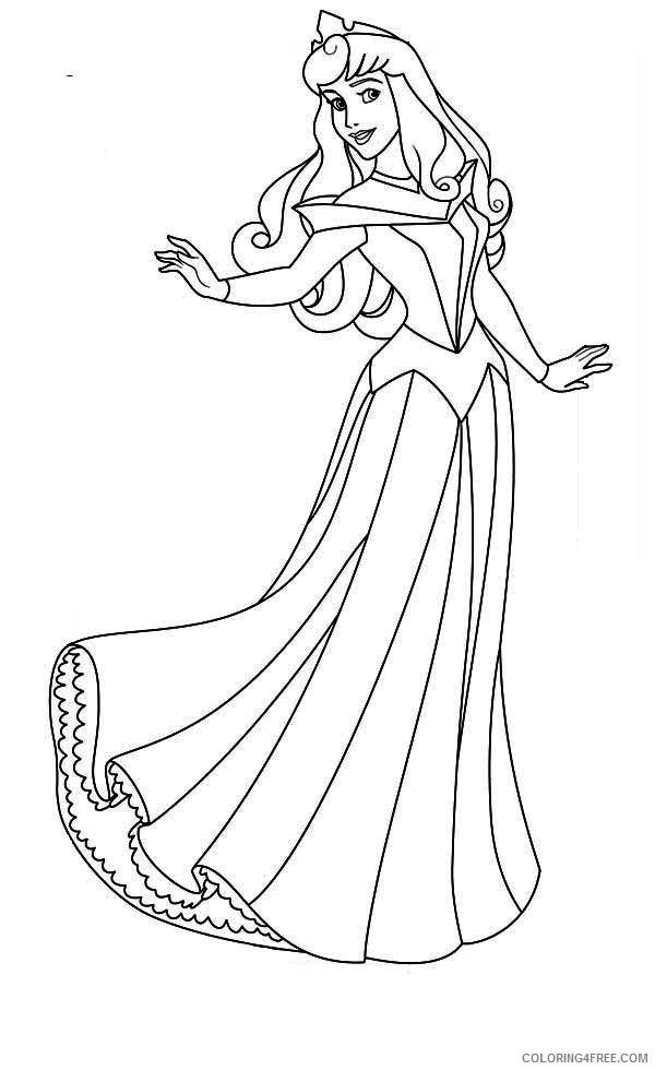 disney princess aurora coloring pages Coloring4free
