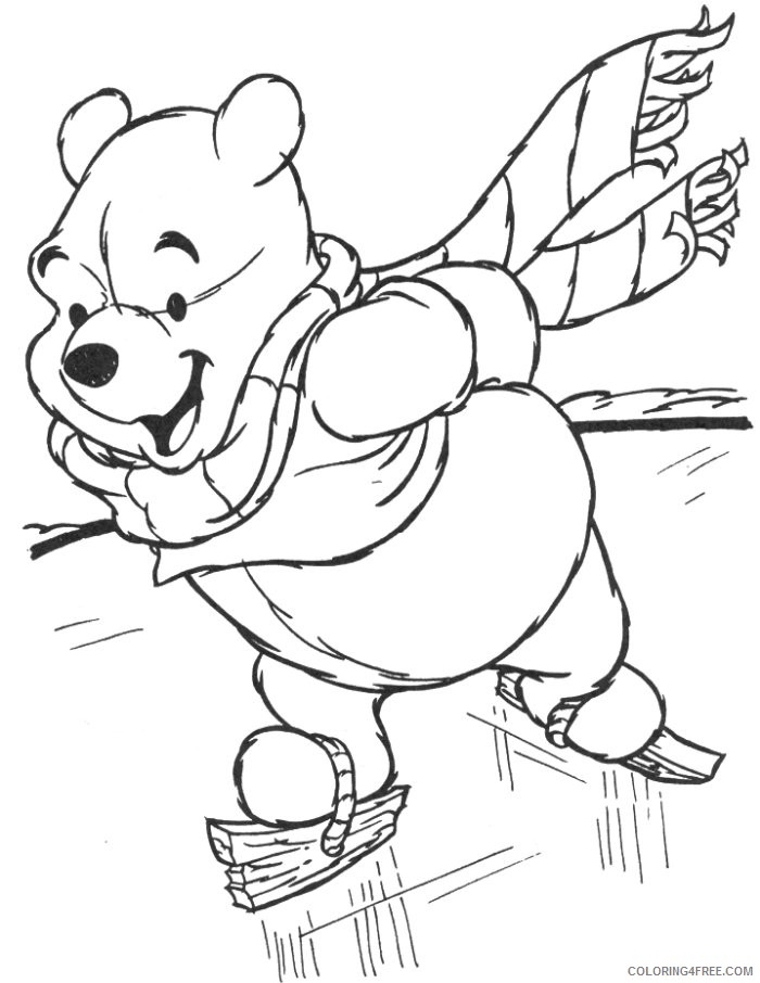 disney winter coloring pages winnie the pooh Coloring4free