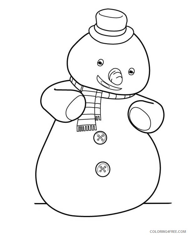 doc mcstuffins coloring pages chilly the snowman Coloring4free