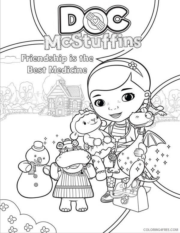 doc mcstuffins coloring pages disney junior Coloring4free