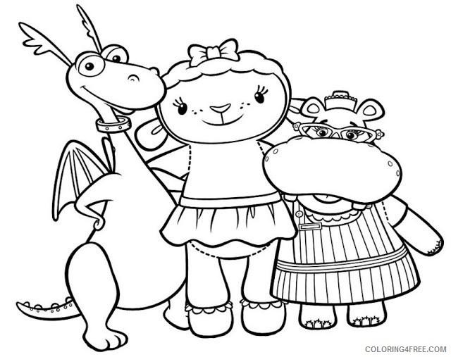 doc mcstuffins coloring pages stuffy lambie hallie Coloring4free