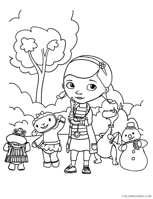 doc mcstuffins coloring pages to print Coloring4free