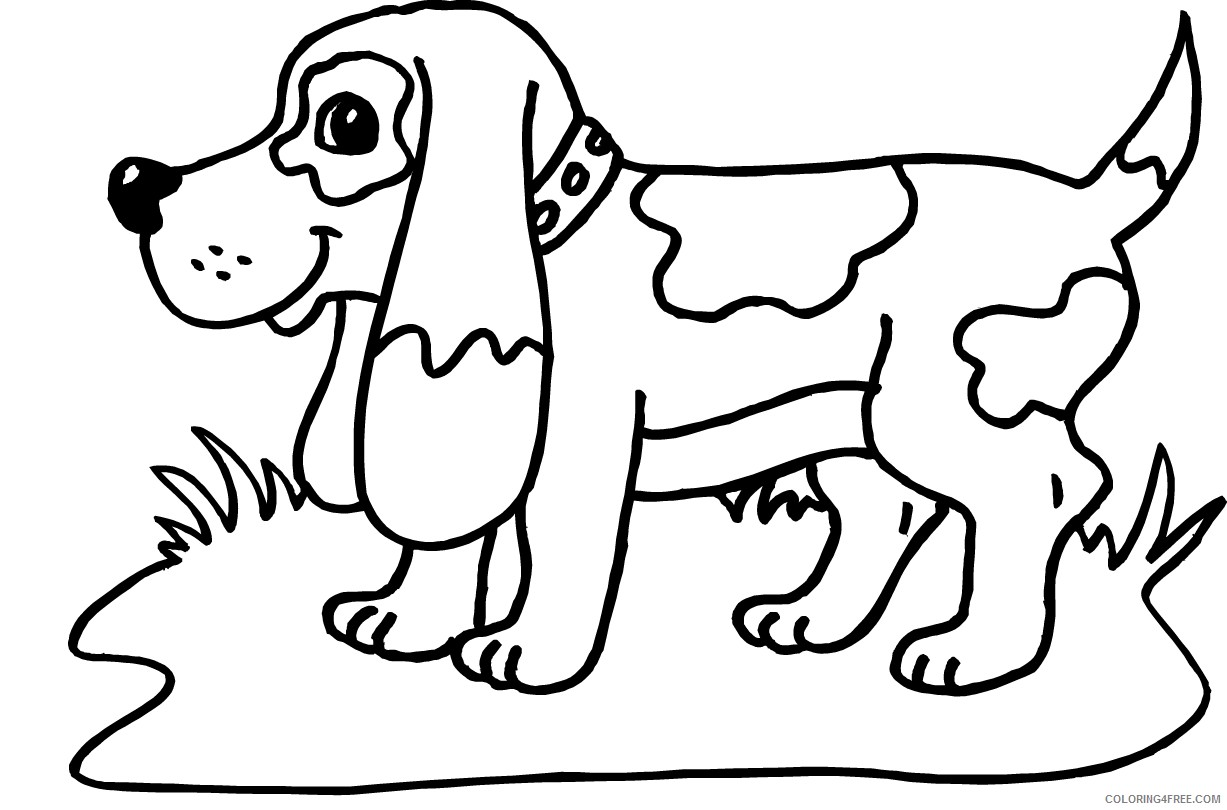 dog coloring pages beagle puppy Coloring4free