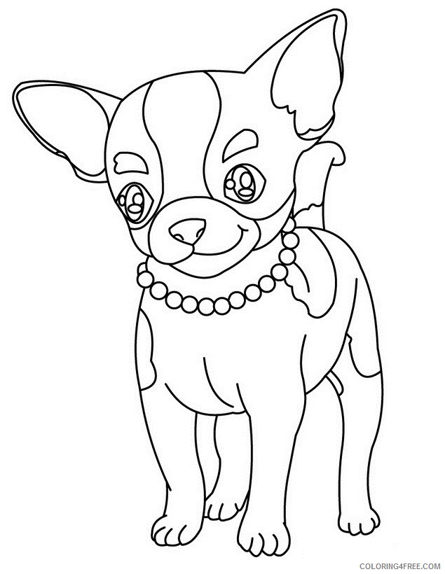dog coloring pages chihuahua Coloring4free