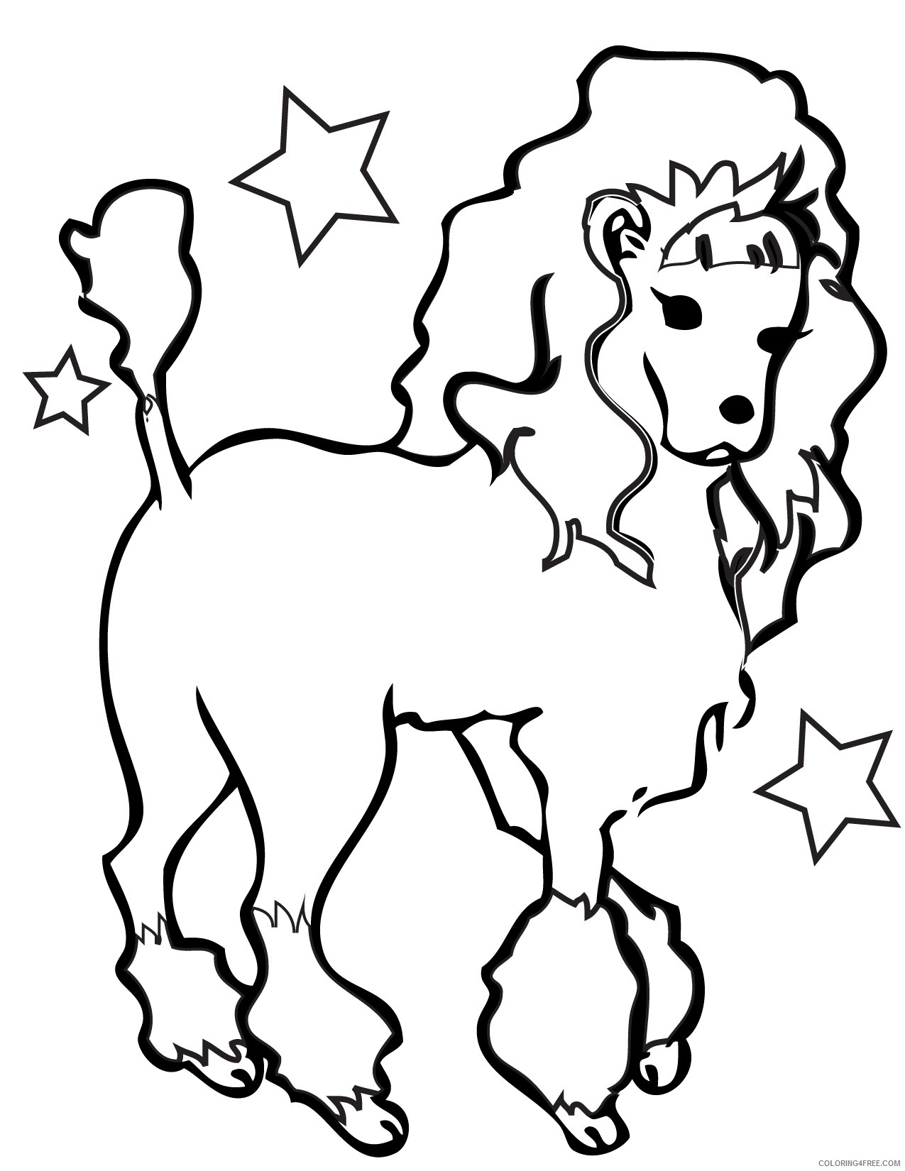 dog coloring pages poodle Coloring4free