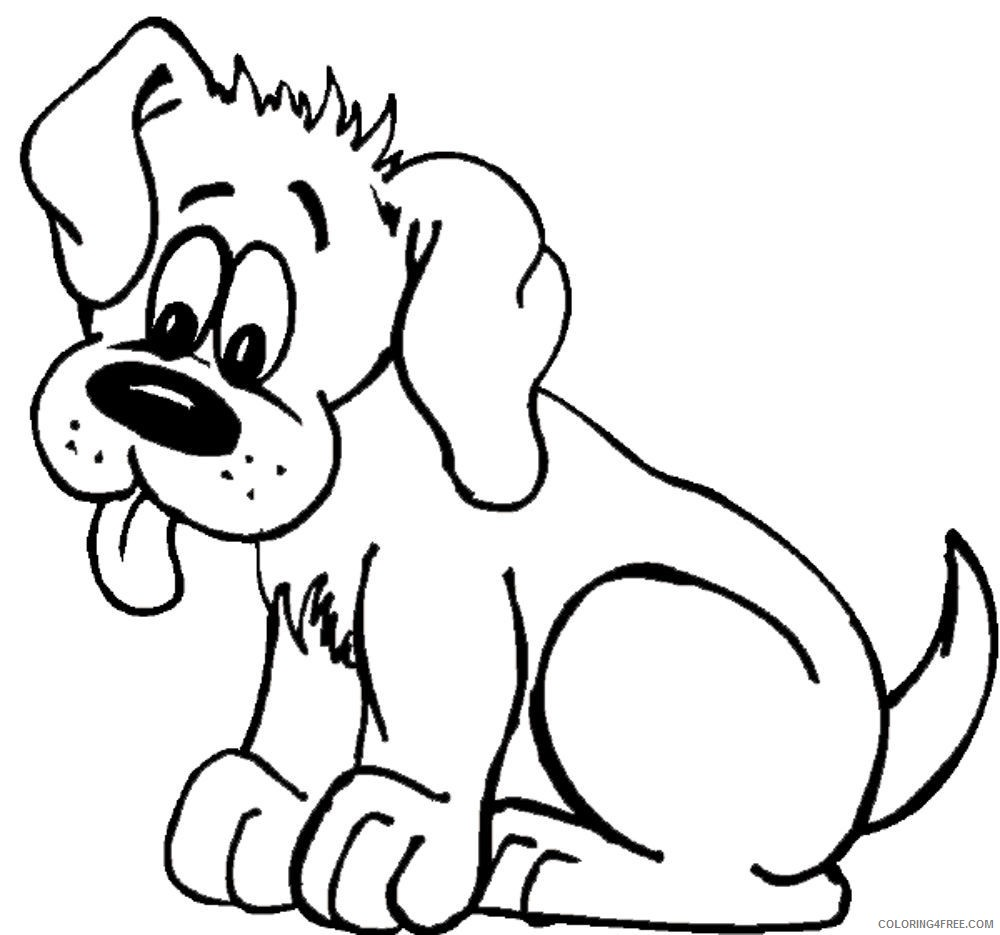 dog coloring pages tongue out Coloring4free