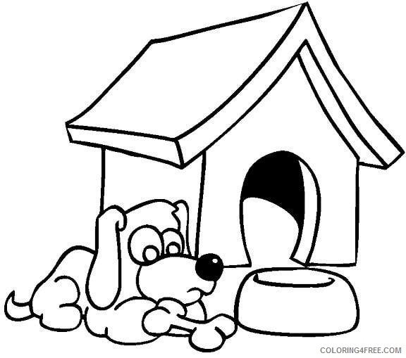 dog house coloring pages Coloring4free