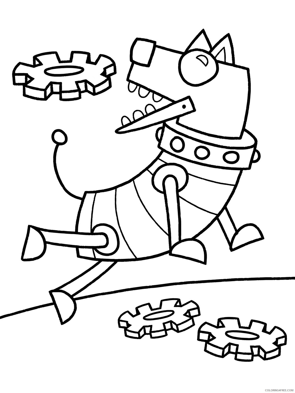 dog robot coloring pages Coloring4free
