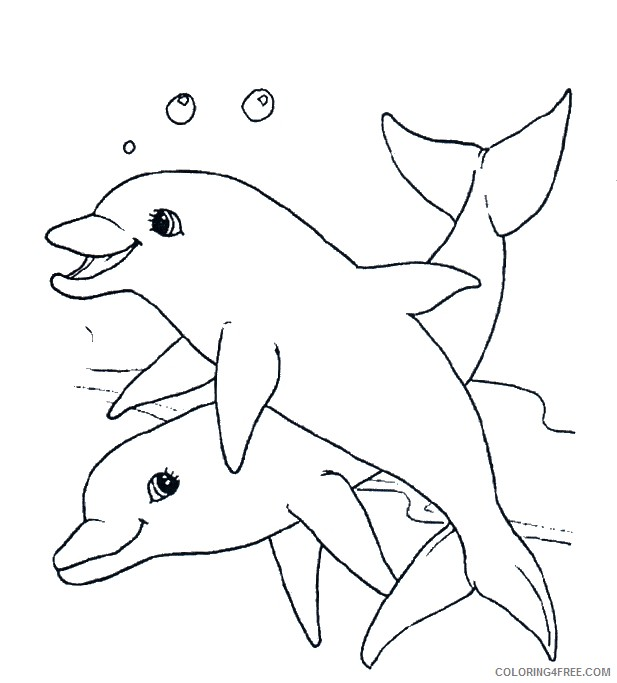 dolphin coloring pages couple Coloring4free