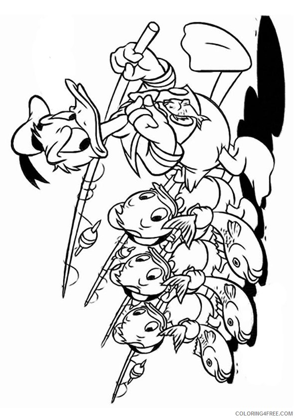 donald duck coloring pages fishing Coloring4free