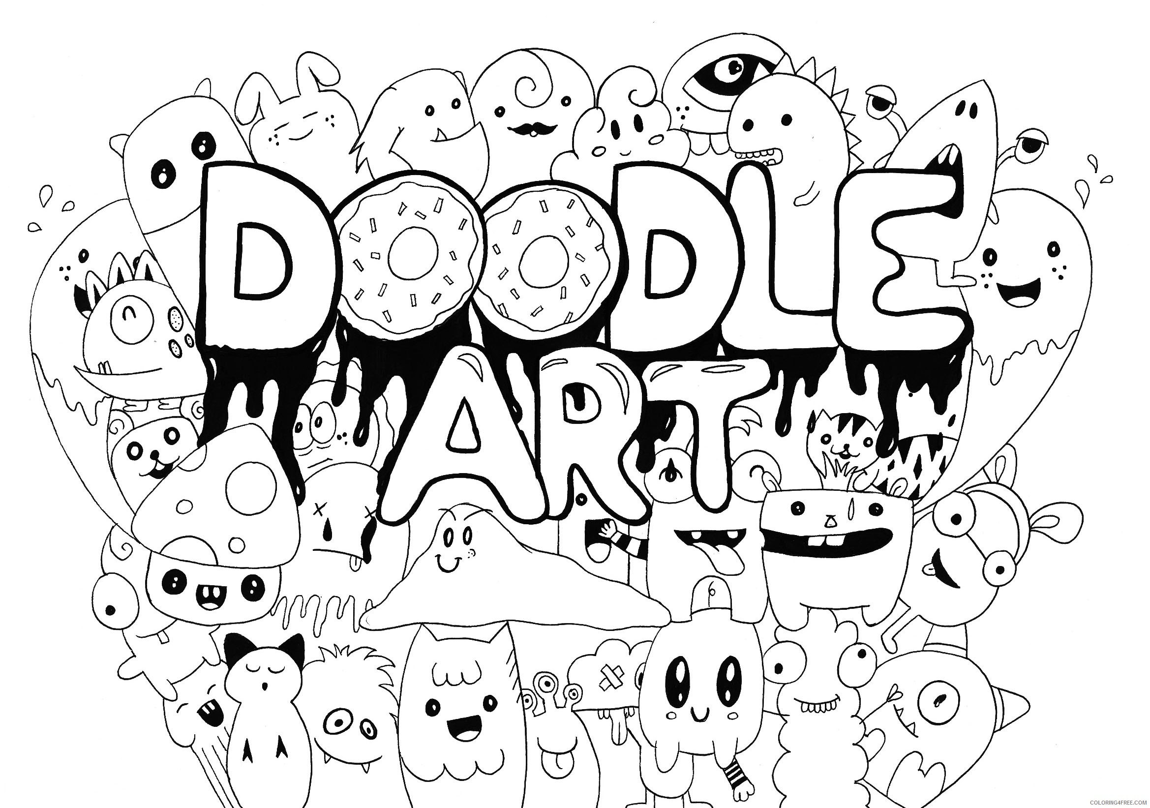 doodle art coloring pages Coloring4free