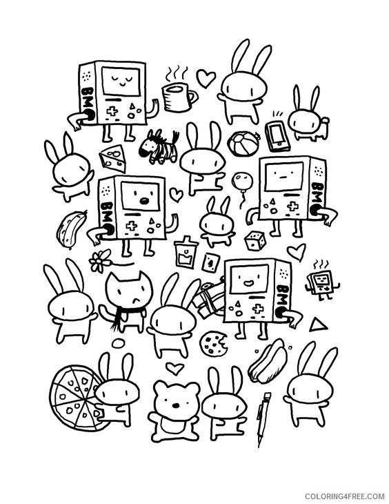 doodle coloring pages for kids Coloring4free