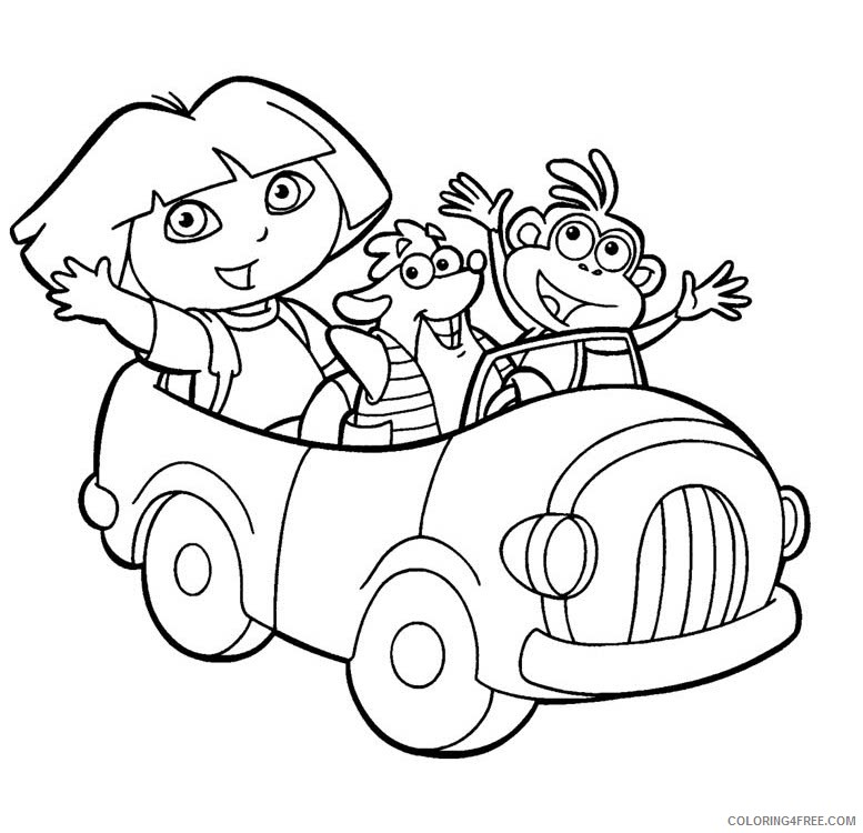dora coloring pages dora tico boots Coloring4free