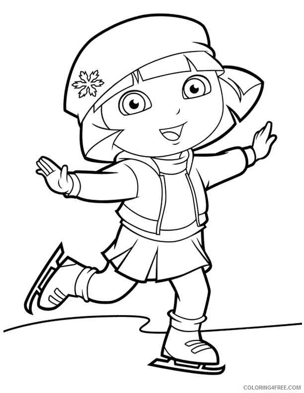 dora coloring pages for girls Coloring4free