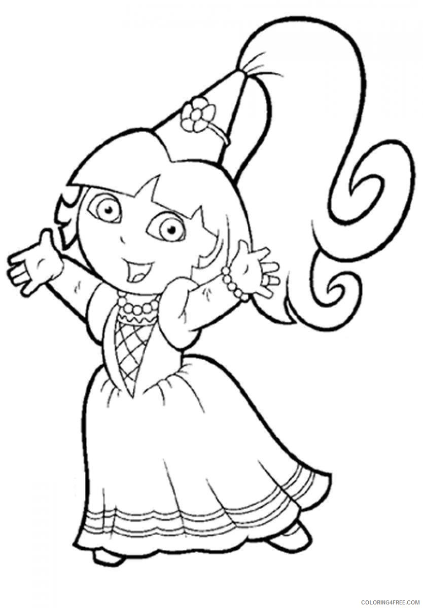 dora coloring pages princess dora Coloring4free