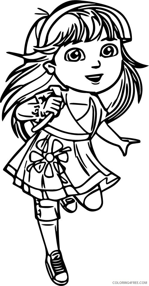dora coloring pages teenager Coloring4free