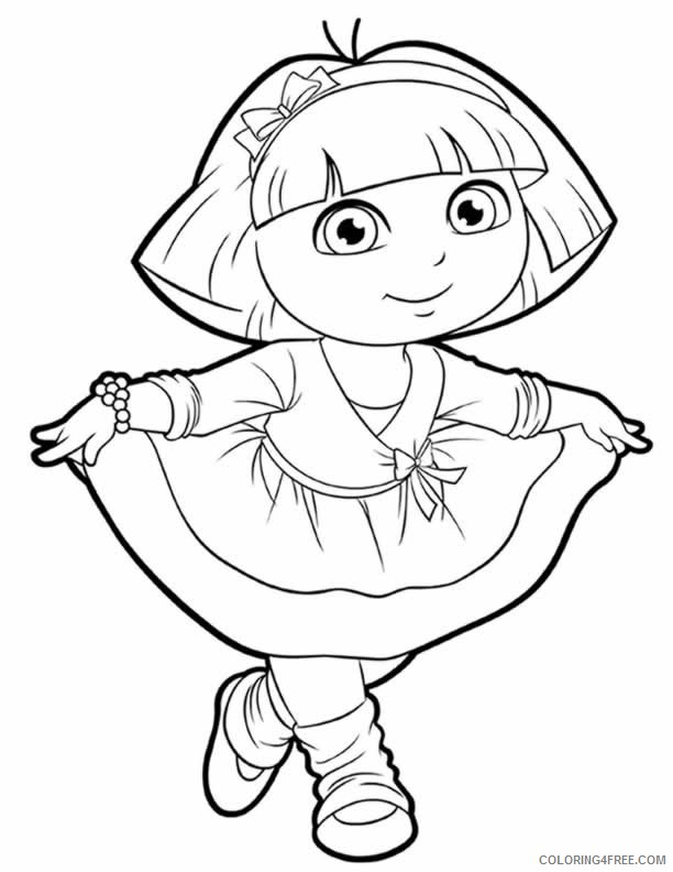 dora coloring pages world adventure Coloring4free