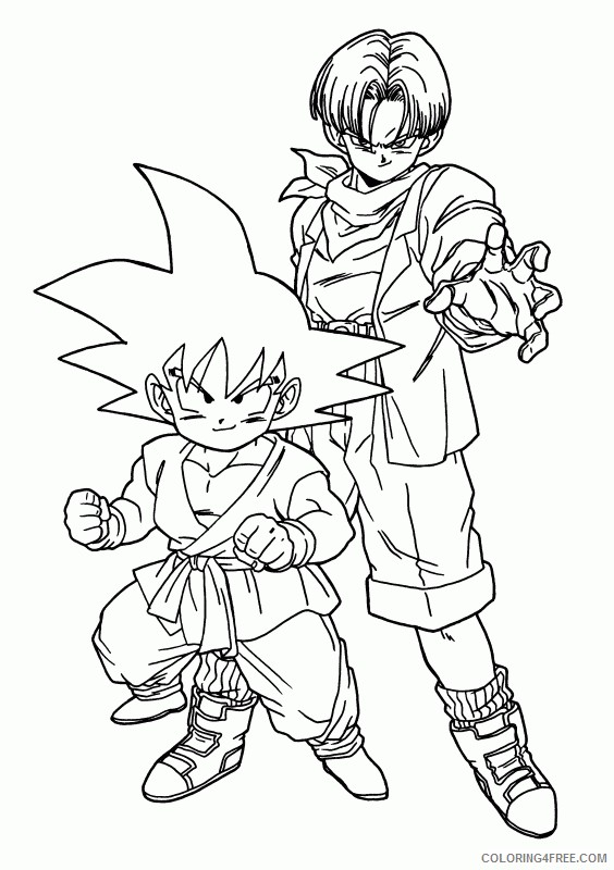 dragon ball z coloring pages goku and trunks Coloring4free