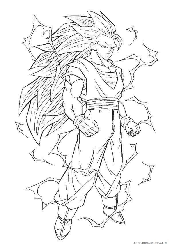 dragon ball z coloring pages goku super saiyan Coloring4free