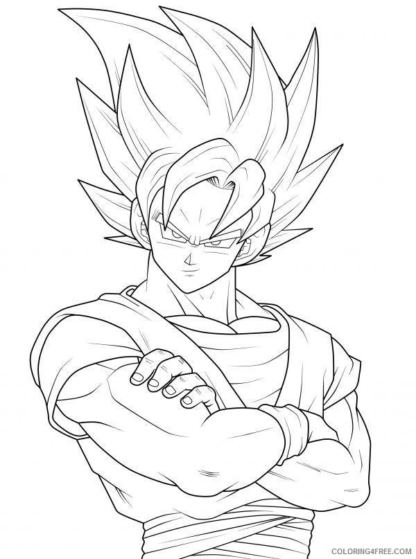dragon ball z goku coloring pages Coloring4free