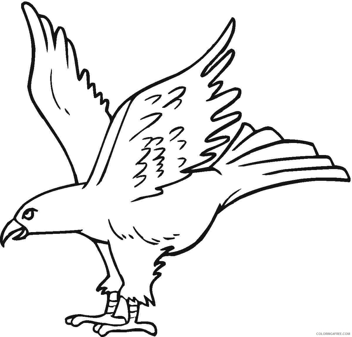 eagle coloring pages for kids Coloring4free