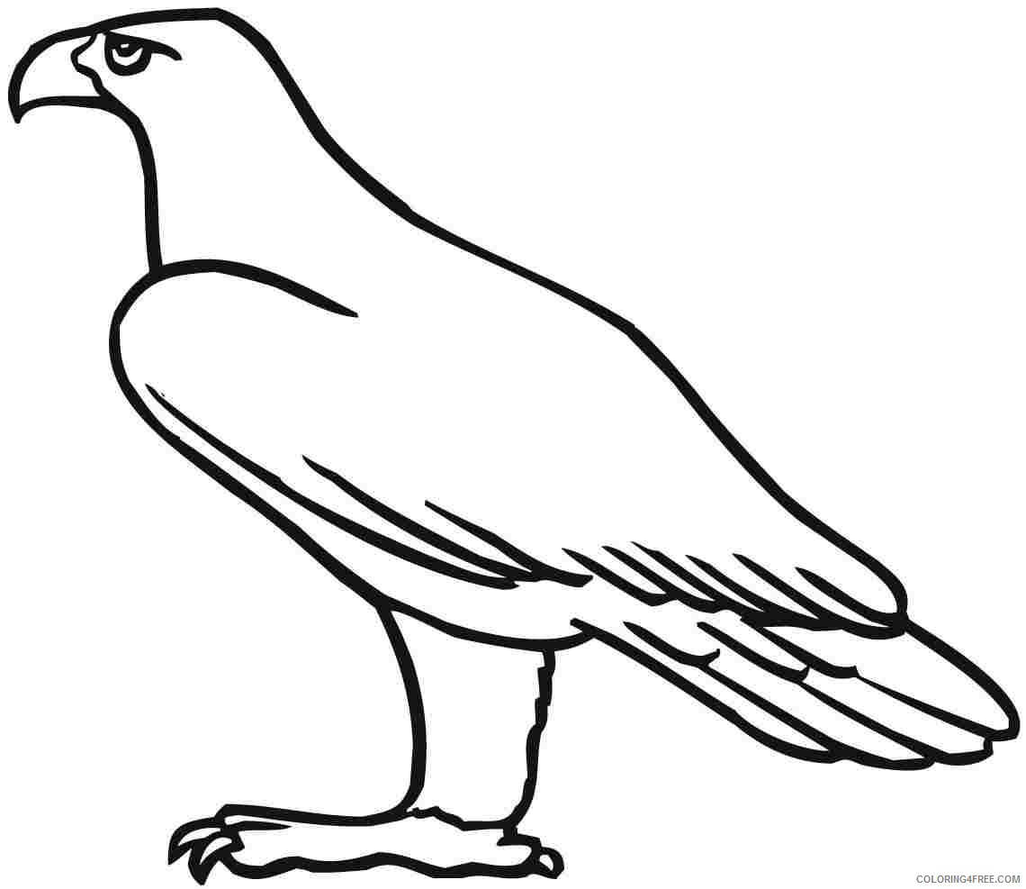 eagle coloring pages for toddler Coloring4free