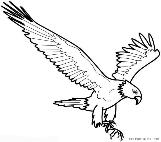 eagle coloring pages pouncing Coloring4free