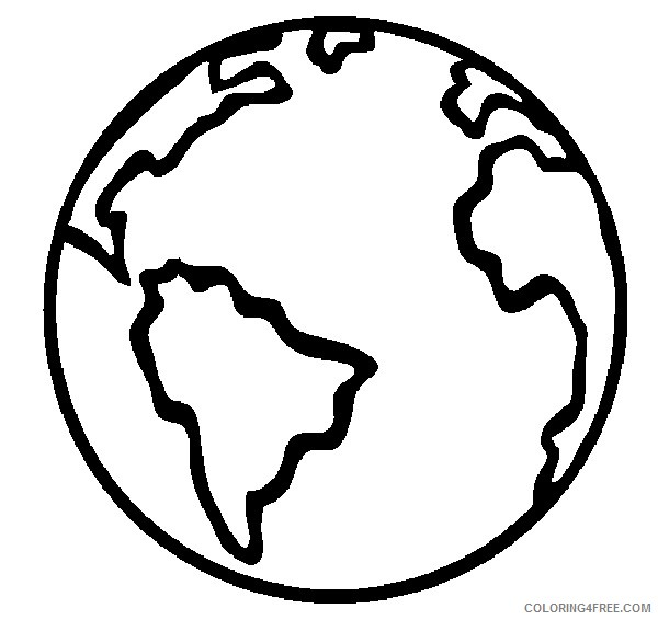 earth coloring pages for preschooler Coloring4free