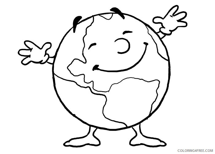 earth coloring pages for toddler Coloring4free