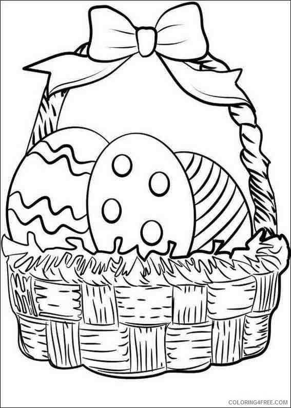 easter coloring pages egg in basket Coloring4free