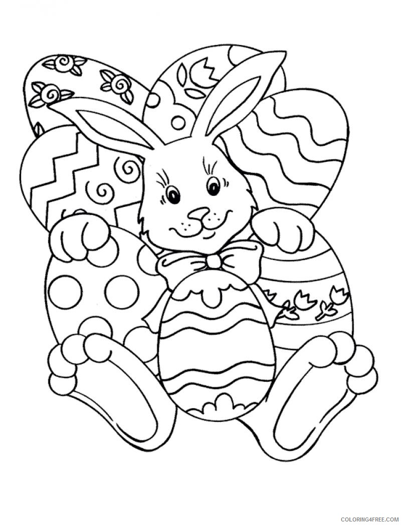 easter coloring pages happy bunny Coloring4free