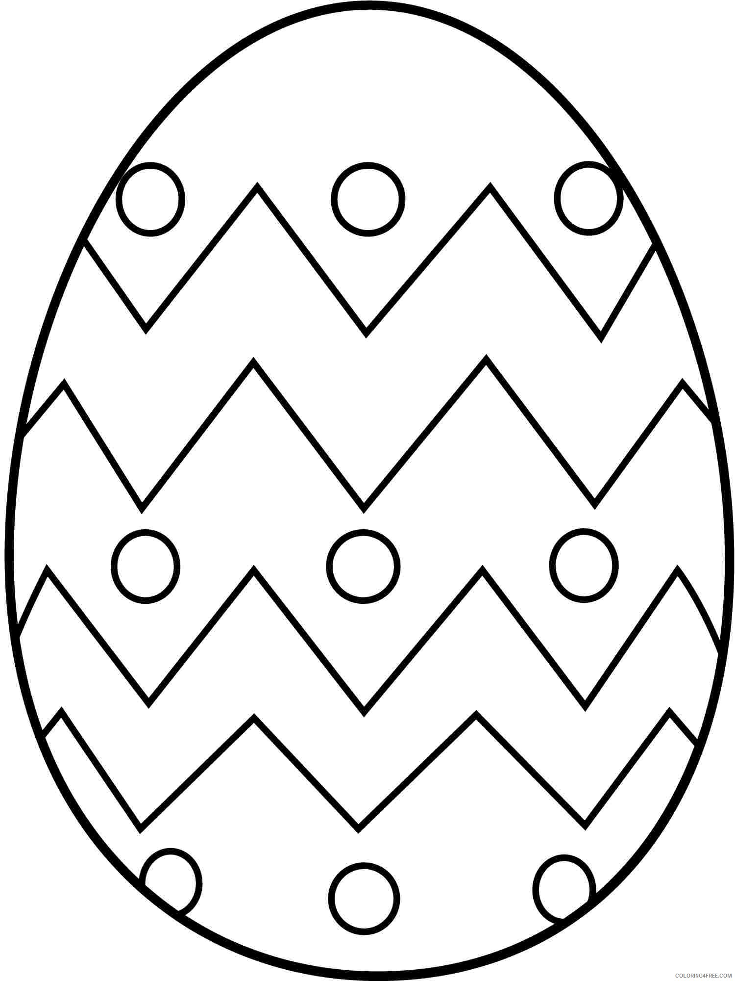 easy easter egg coloring pages Coloring4free