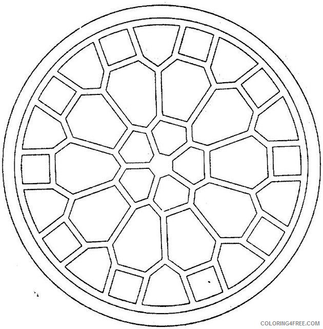 easy geometric coloring pages for kids Coloring4free