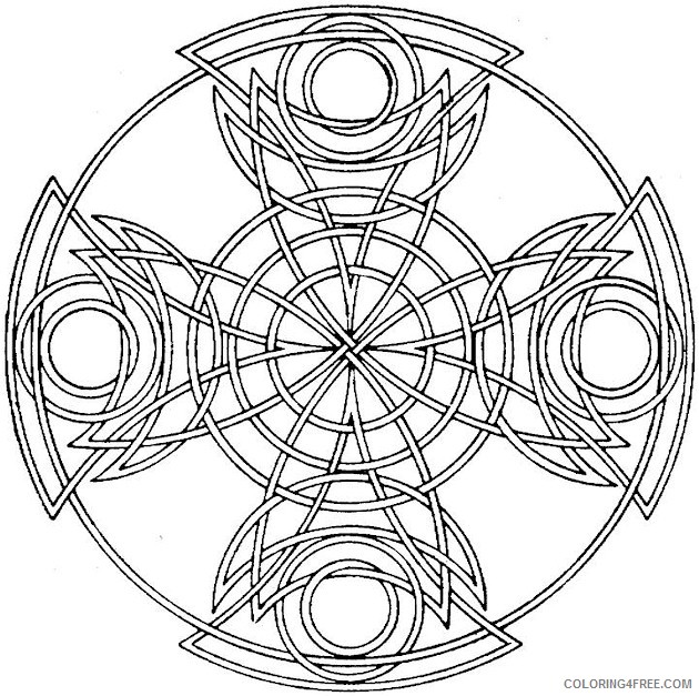 easy kaleidoscope coloring pages Coloring4free