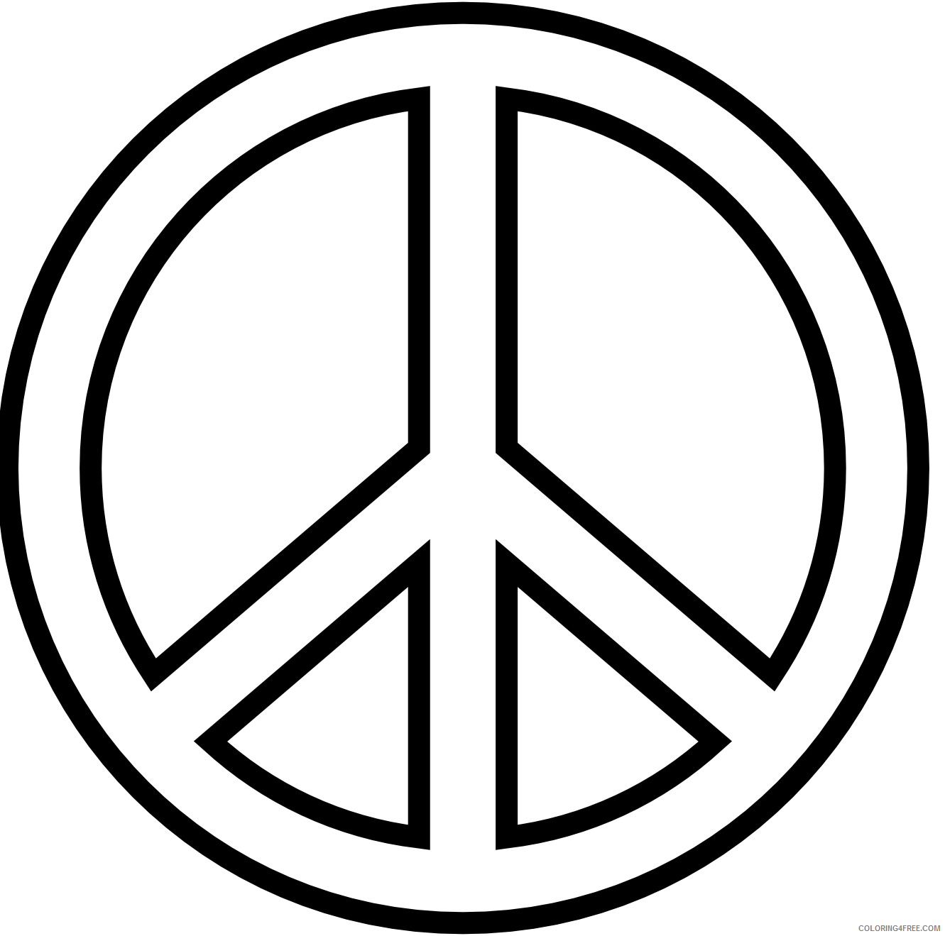 easy peace sign coloring pages Coloring4free