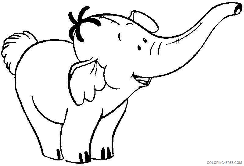 elephant coloring pages cartoon Coloring4free