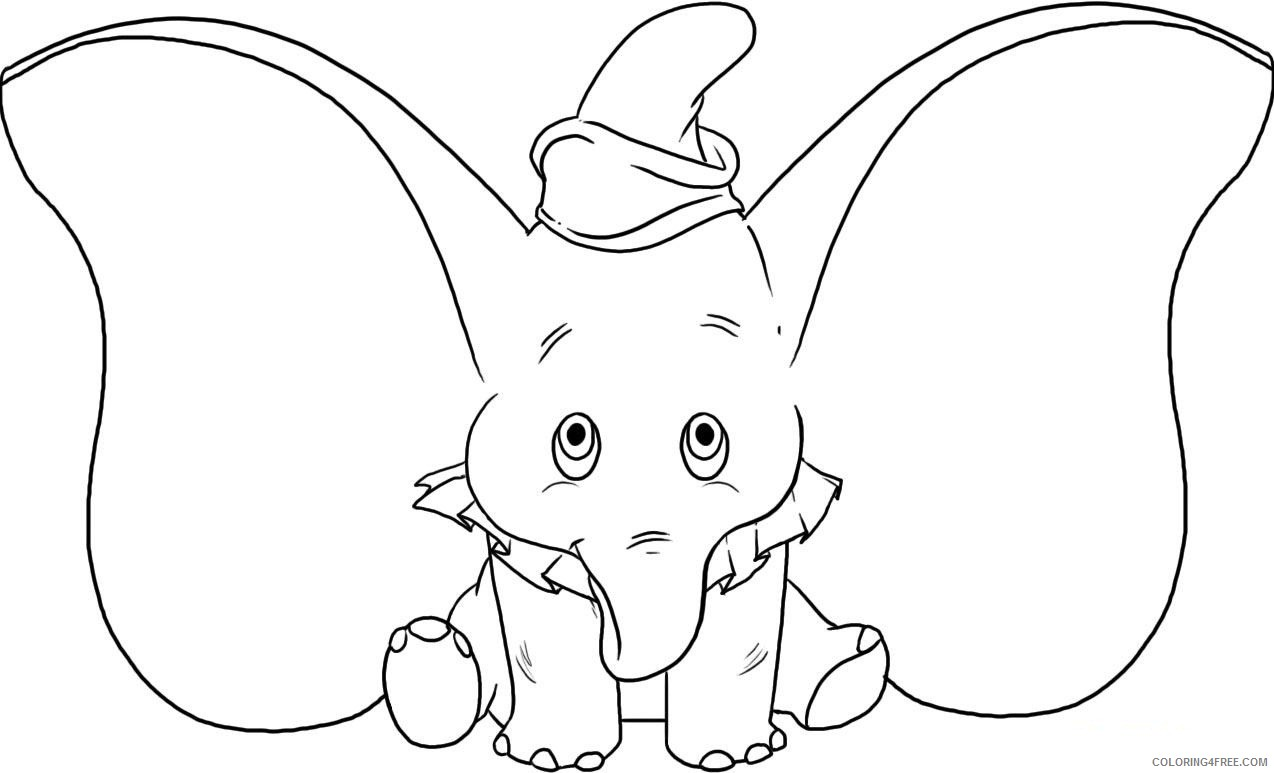 elephant coloring pages dumbo the elephant Coloring4free