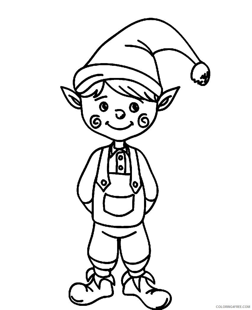elf coloring pages to print Coloring4free