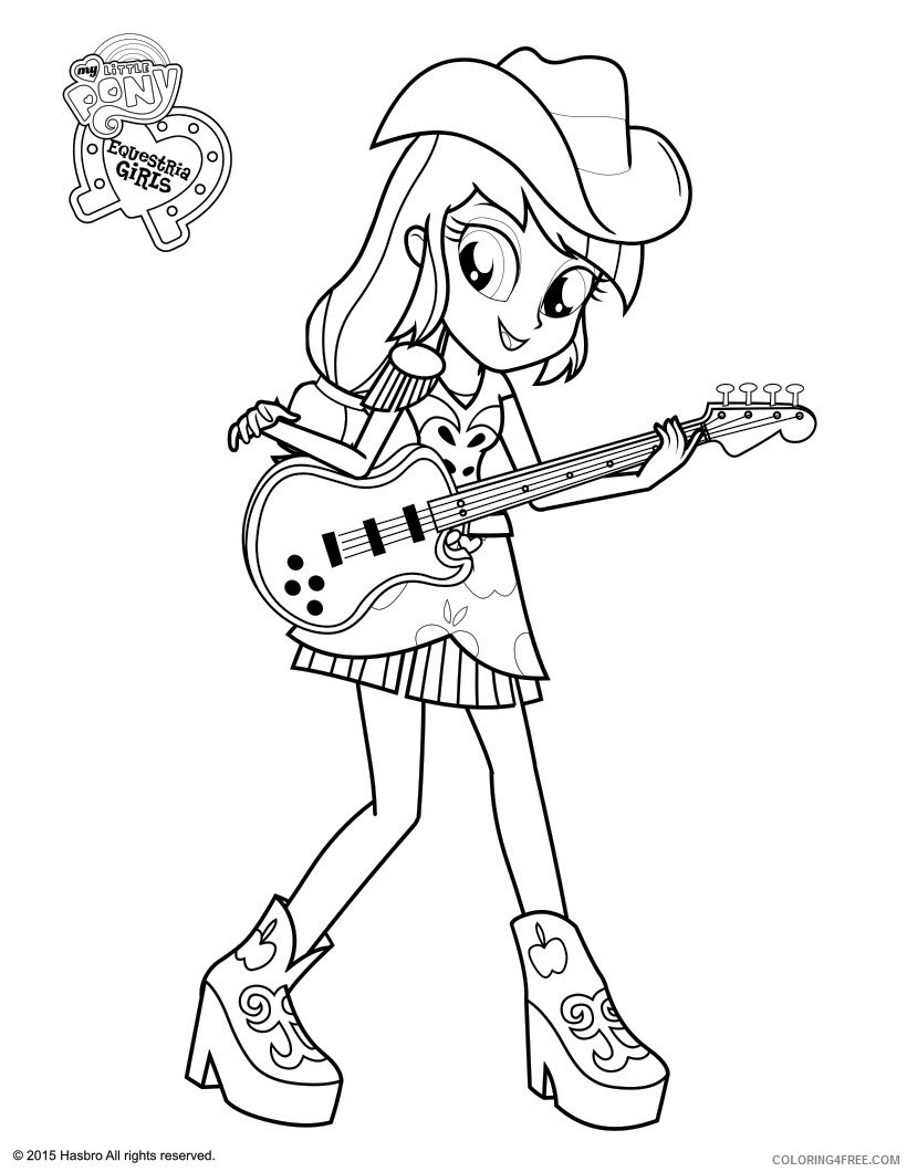 equestria girls coloring pages applejack Coloring4free