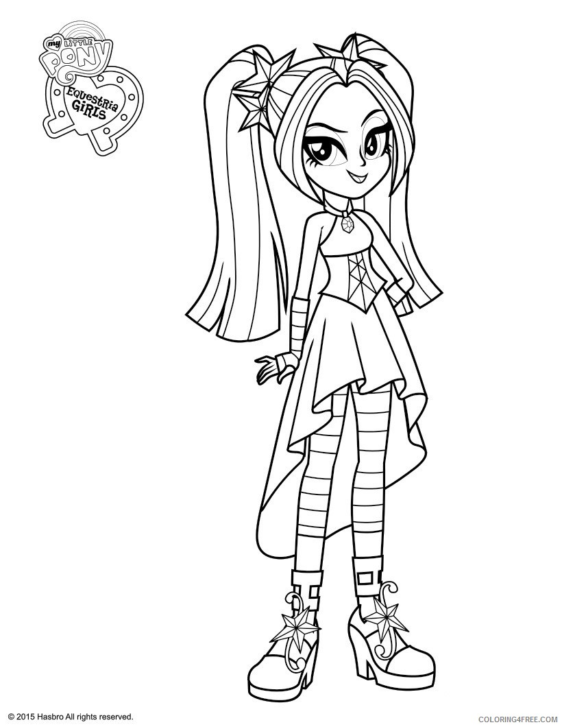equestria girls coloring pages aria blaze Coloring4free