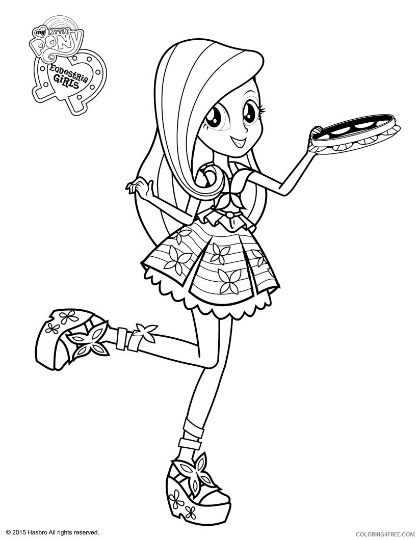 equestria girls coloring pages fluttershy Coloring4free