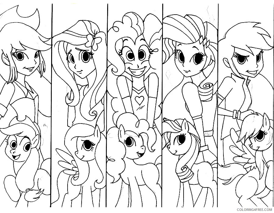 equestria girls coloring pages my little pony Coloring4free